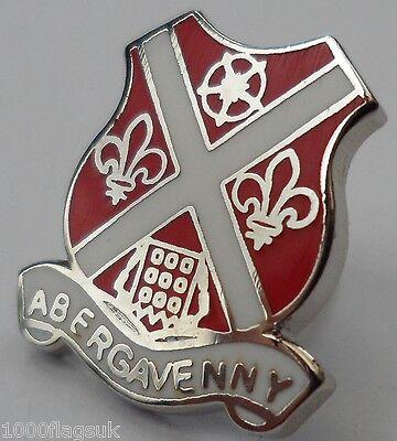 Abergavenny Ciudad Gales Crest Pequeño Pin Insignia (0297)