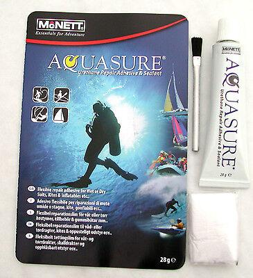 AQUASURE neoprene DRY/ WET SUIT scuba diving repair glue ADHESIVE seals BOOTS !!