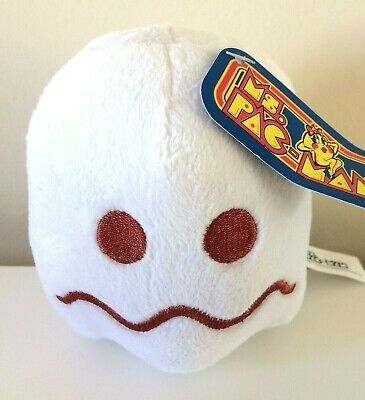 Pac-Man Plush 5 '' . Licensed. Brand New White Ghost . Stuffed Toy.Soft