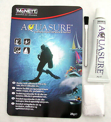 AQUASURE neoprene DRY/ WET SUIT scuba diving repair glue ADHESIVE seals BOOTS !!