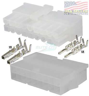 18 Circuit Connector - Complete Molex Wire Conn. With Pins - Molex Mini-fit Jr