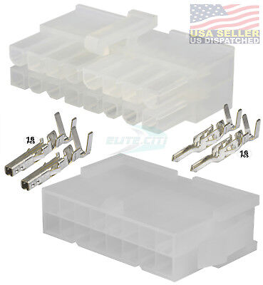 16 Circuit Connector - Complete Molex Wire Conn. with Pins - Molex Mini-Fit Jr ™