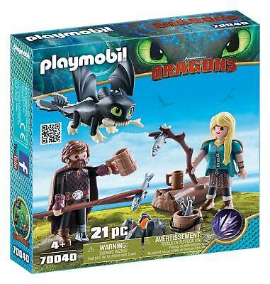Playmobil Hicks Und Astrid Mit Babydrachen Kinderspielzeug Mit Fluganzug (Baby Flug Anzug)