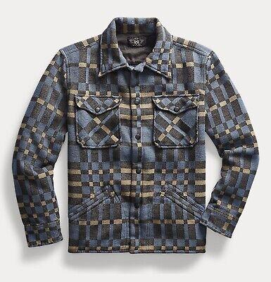 RRL Ralph Lauren Vintage Inspired Jacquard Overshirt Jacket-MEN- M