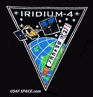NEW Iridium-4 - SPACEX ORIGINAL FALCON 9 F-9 VAFB Launch SATELLITE Mission PATCH