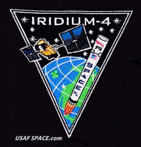 Authentic Iridium-4 - SPACEX FALCON 9 F-9 VAFB Launch SATELLITE Mission PATCH