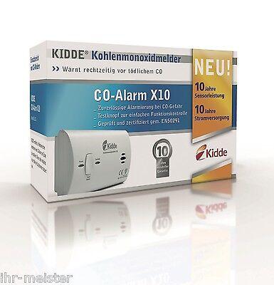 Kohlenmonoxidmelder Kidde X10 mit 10 Jahres Lithiumbatterie - CO Melder