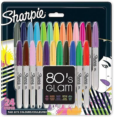 Sharpie Fine Point Permanent Marker 80s Glam Pack Of 24