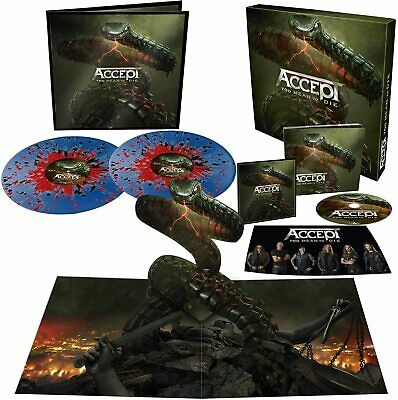 Accept Too Mean To Die Cofanetto 2 Vinili LP Blue/Red Black+Cd Digipack+Patch