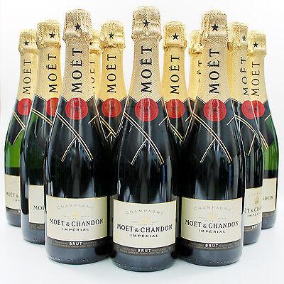 12 Bottles of Moet & Chandon Brut, Champagne, France 7C2101-12