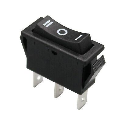 10pcs Rectangle Size On-off-on Spdt Momentary Reset Black 3pin Rocker Switch