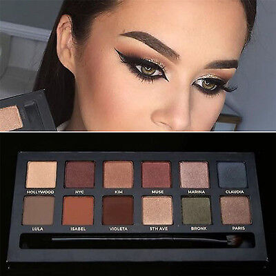 POP 12 Colors Eye Shadow Makeup Cosmetic Master Eyeshadow Palette Brush Beauty