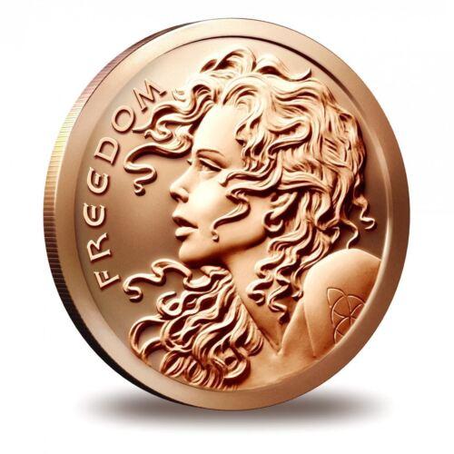 1 oz Copper Round - Freedom Girl