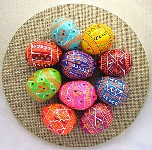 Pysanka-10-Ukrainian-Wooden-Easter-Eggs-Colorful-SMALL