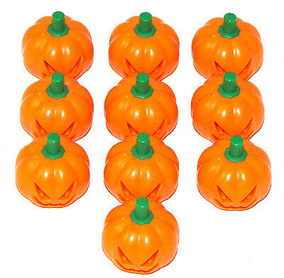 LEGO LOT OF 10 ORANGE PUMPKIN JACK-O-LANTERN HALLOWEEN PIECE PART PIECE ](Halloween Part 10)