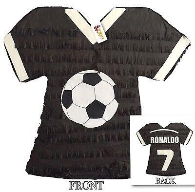 Black Soccer Jersey Pinata Ronaldo 7 Soccer Party Favor - Soccer Pinata