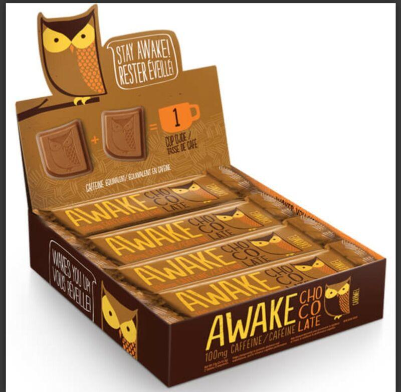 Awake Caffeinated Chocolate Energy Bites, chocolate caramel (unopened box)