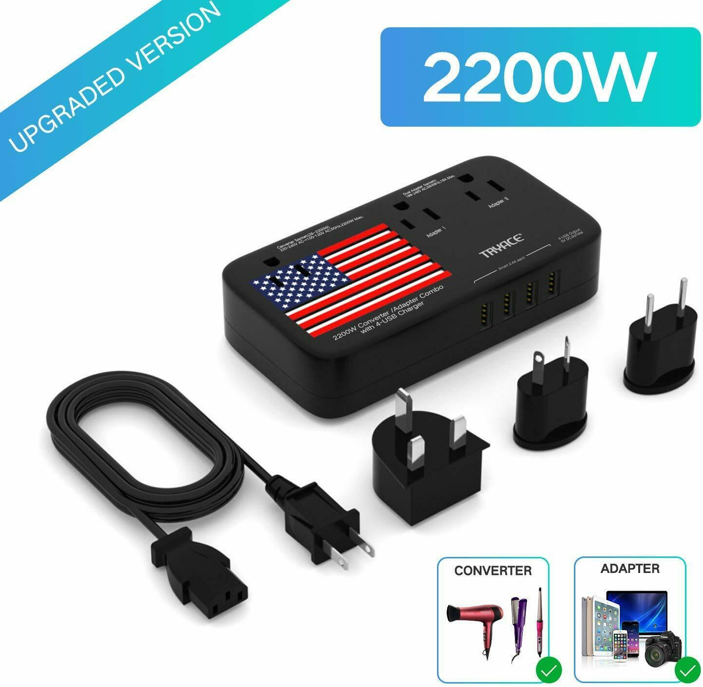 TryAce 2200W Exclusive Voltage Converter and 10A Travel Adap
