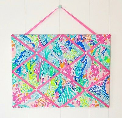 New Memo board made with Lilly Pulitzer PB New Mermaid Cove fabric Fabric Memo Board