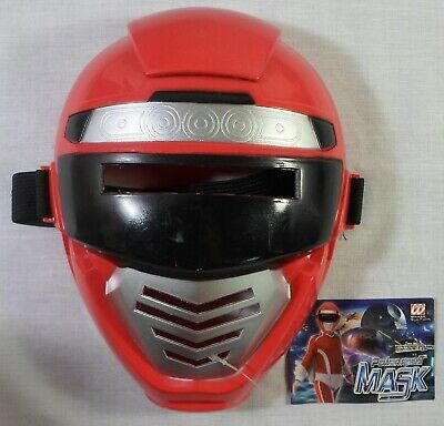 POWER RANGERS RED RANGER 8'' MASK FOR KIDS HALLOWEEN PROP UNUSED w/ TAGS