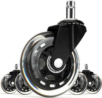 Office Chair Caster Swivel Wheels Replacement 3 Inch Universal Casters Set Of 5