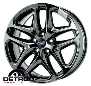 17 ford fusion wheels rims black chrome 2013 2014 2015 factory set 3957 ebay. Black Bedroom Furniture Sets. Home Design Ideas