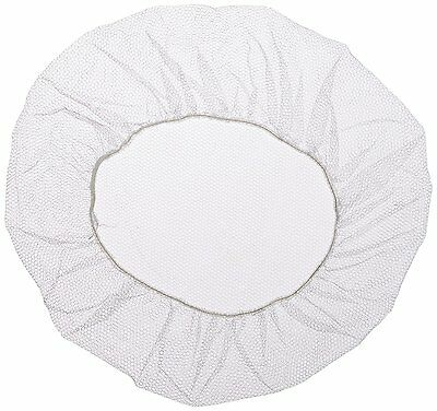 "Shield Safety 18"" Nylon Hair Net Cap White for Medical Food Service 100 Pieces"
