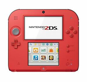 Red 2DS with 14 premium games