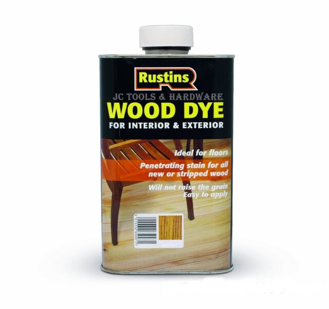 Rustins Wood Dye for Interior & Exterior 250ml 12 Colours Including WHITE