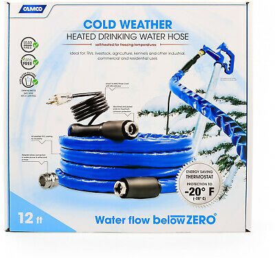 Heated Drinking Hot Water Hose 12 Ft. RV Commercial And Residential Use BPA Free