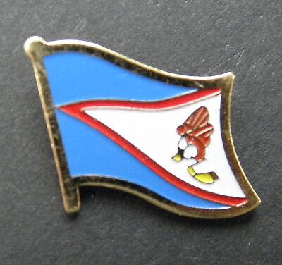 (AMERICAN SAMOA SINGLE FLAG LAPEL PIN BADGE 7/8 inch)
