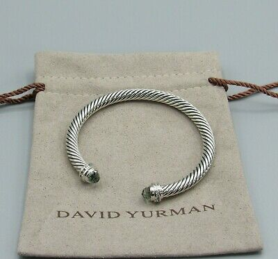 David Yurman  Bracelet 5mm Prasiolite With Diamond