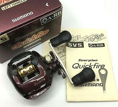 Shimano Scorpion Quickfire Left Handed Bait Casting Reel <Near Mint> From JAPAN