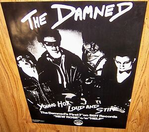 THE-DAMNED-New-Rose-Help-1st-7-45rpm-Stiff-Promo-Poster-1977-Punk-KBD