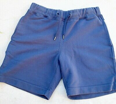 ORLEBAR BROWN Shorts Size SMALL French Terry Navy Blue Cotton Beach $250