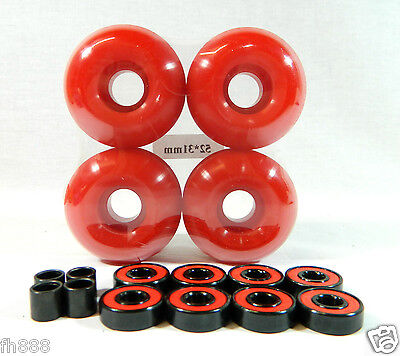 Blank Pro Skateboard 52mm Color Wheels + ABEC 7 Color Bearings + Spacers on Rummage