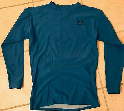 Under Armour COLDGEAR Base Layer Fitted Crewneck - Mens L Under Armour Coldgear Crewneck