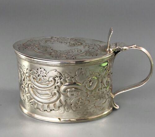 George III Chased Silver Mustard Pot John Gold London 1795 GEZX