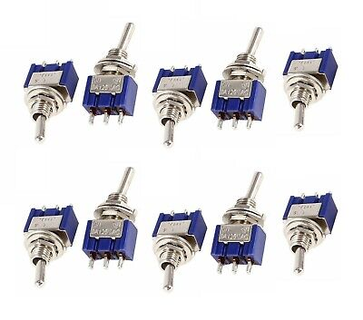 10 Pieces Mini 6a 125v Ac Spdt Mts-102 3pin 3 Position On-off-on Toggle Switch