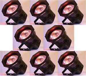 8-Par-38-Light-Cans-Stage-DJ-KJ-BAND-Lighting-Dance-INCLUDES-BULBS-GELS
