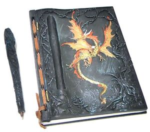 Dragon Ornament Notebook Book with Pen Journal
