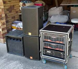 Mobile PA System - Amps, Speakers & Rack - Top quality Coffs Harbour Coffs Harbour City Preview