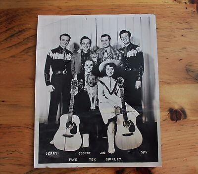 Vintage Western Country Band Jerry and Sky Photo Radio Studio WROW Bluegrass