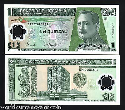 GUATEMALA 1 QUETZAL P109 2006 x 100 PCS LOT BUNDLE POLYMER BIRD UNC MONEY NOTE