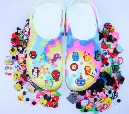 100 Random Pvc Shoe charms Different Shoe Charms for shoes And Wristband