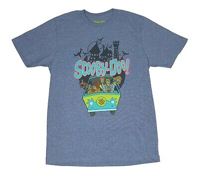 Scooby Doo Shaggy Velma Fred Daphne Mystery Machine Haunted Mansion Mens T shirt ()