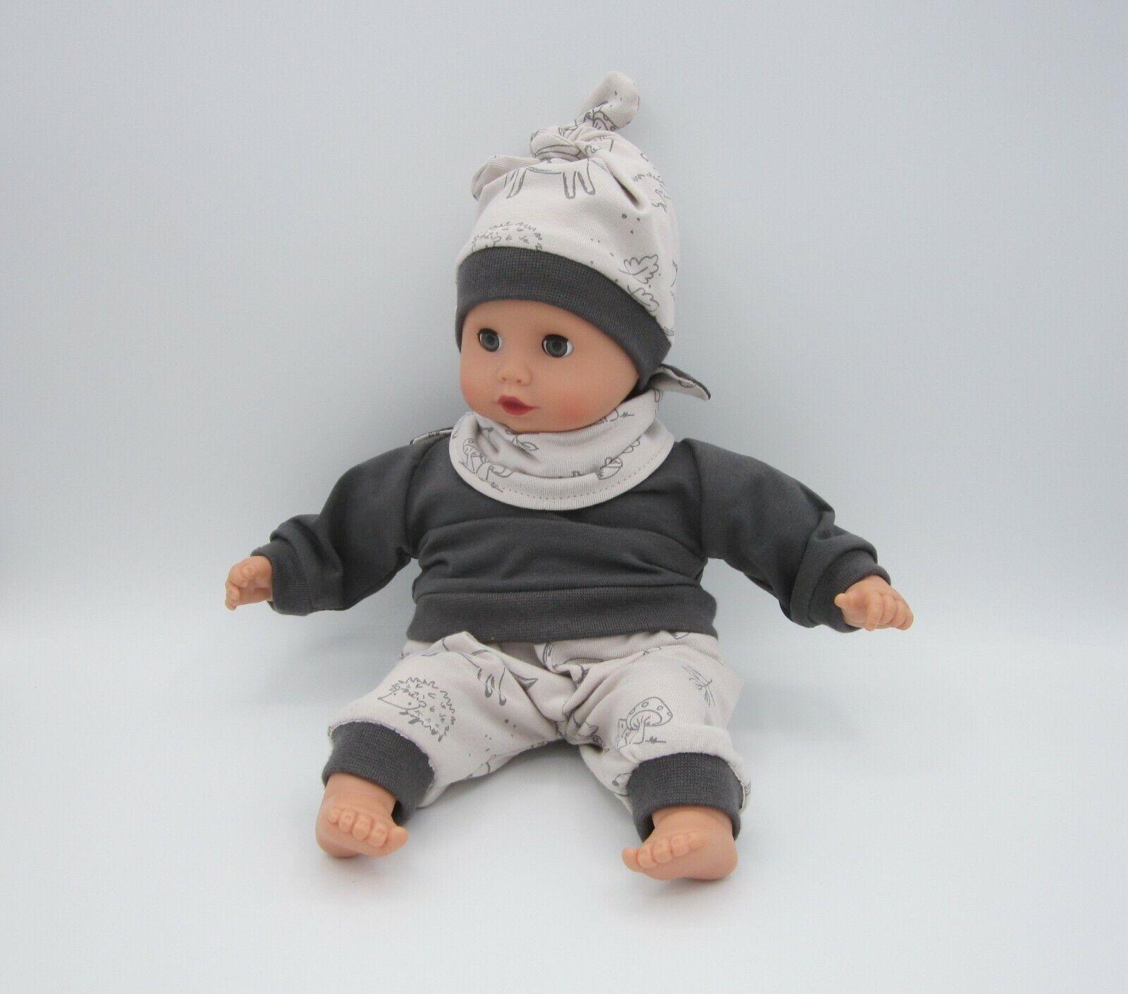 05 3 tlg Puppenkleidung Set für JAKO-O Puppe Krümel 43cm NEU