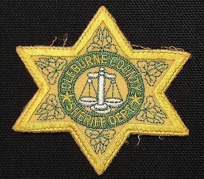 Cleburne County Sheriff Star Patch  OS Unused Cloth Back  FREE SHIPPING