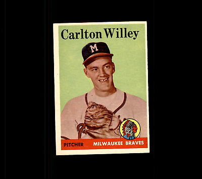 1958 Topps 407 Carlton Willey Rc Ex  D427463