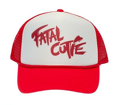 Fatal Cutie Truckers Hat unisex adjustable Fury Cap Red/White